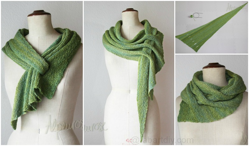 DIY Knit Slot Scarf-Knit Arrow Caterpillar Scarf (Free Pattern)