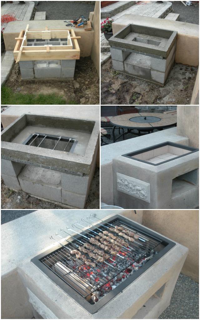 DIY Morgan's Open Grill for backyard-Backyard Concrete Grill Plan