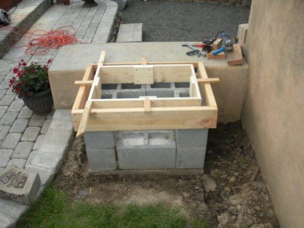DIY Morgan's Open Grill Picture Tutorial--Backyard Concrete Grill Plan