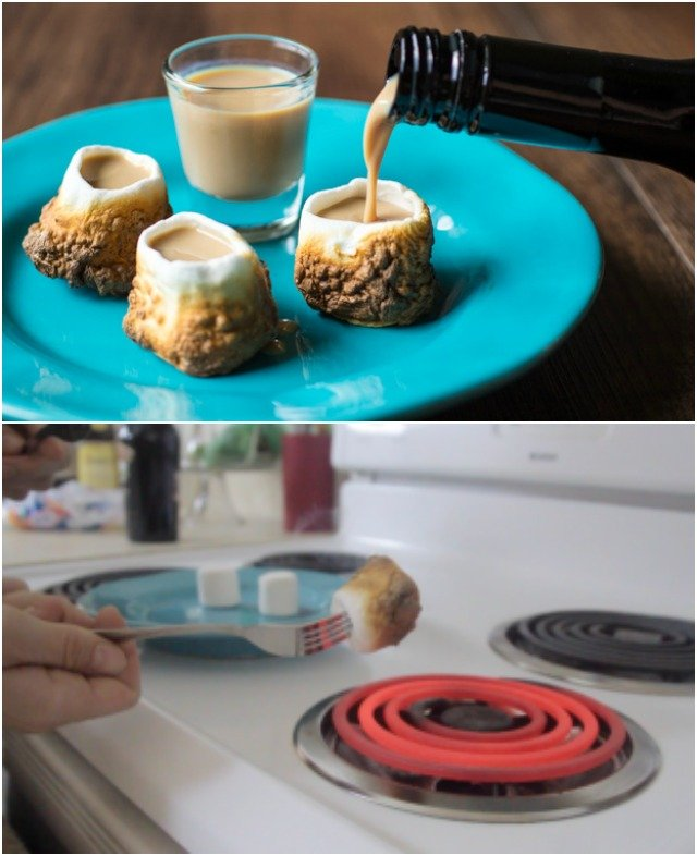 DIY Toasted Marshmallow Shot Glass Recipe Video