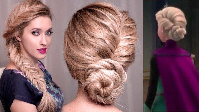 Phenomenal Frozen Elsa Hairstyle Updo Tutorial Easy Video Short Hairstyles Gunalazisus