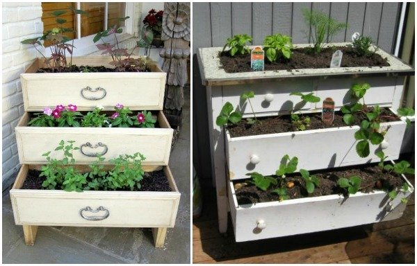 15 Creative Ways to Recycle Your Old Dresser Drawers-Entire Dresser Garden Box