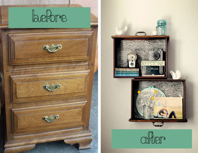 15 Creative Ways to Recycle Your Old Dresser Drawers-DIY Drawer Shelves