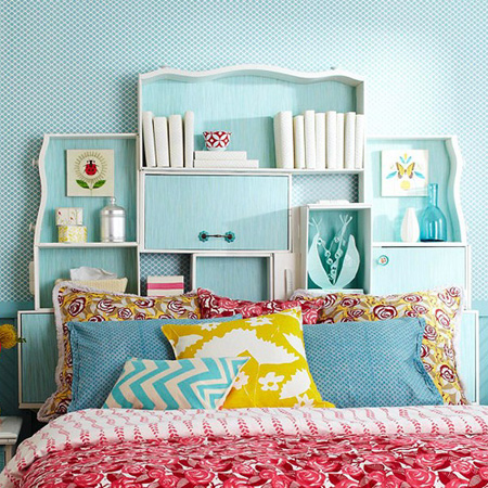 15 Creative Ways to Recycle Your Old Dresser Drawers-Drawer Headboard