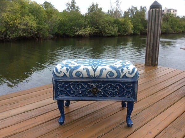 15 Creative Ways to Recycle Your Old Dresser Drawers-Old Drawer Ottoman