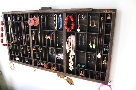 15 Creative Ways to Recycle Your Old Dresser Drawers-drawer Jewelry Organizer