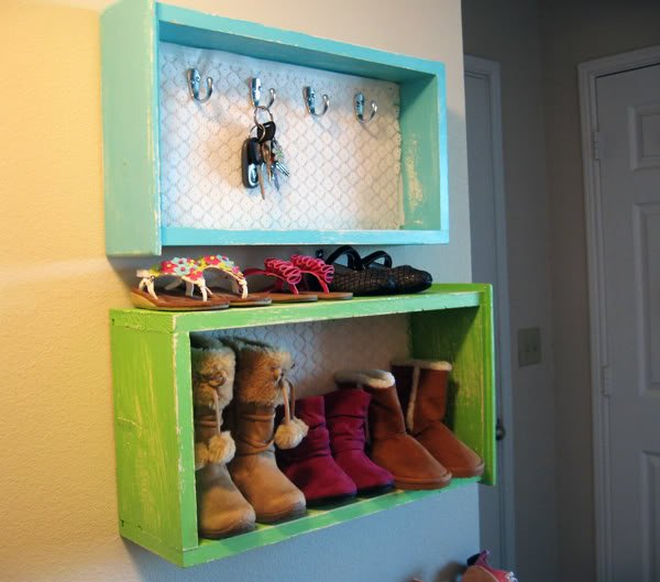 15 Creative Ways to Recycle Your Old Dresser Drawers-Drawers Into Wall Storage