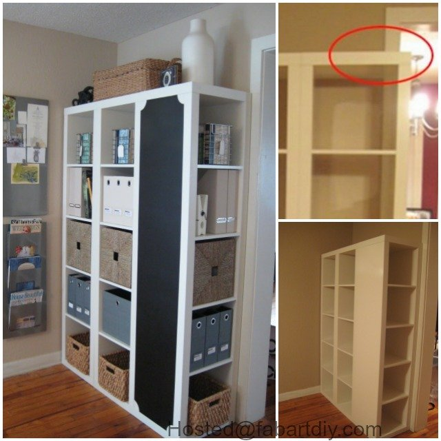 ikea expedit shelf redesign hack. Black Bedroom Furniture Sets. Home Design Ideas