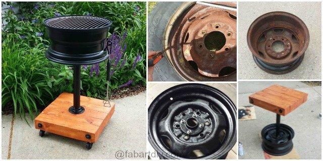DIY Tire Rim Grill No Welding Step by Step Tutorial
