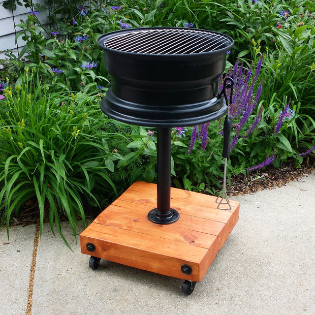 DIY Tire Rim Grill No Welding Step by Step Tutorial