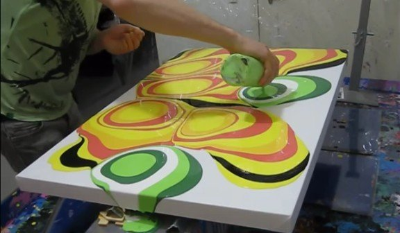 Fun Pour Fluid Painting Canvas Wall Art (Video)