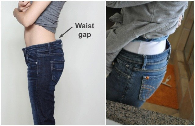 Sewing Trick to Take In Jean Waist Gap