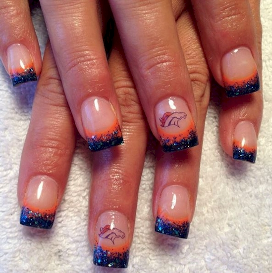 Super Bowl Nail Art Design - 12 Super Bowl Nail Art Designs - Broncos Nail Designs Graham Reid