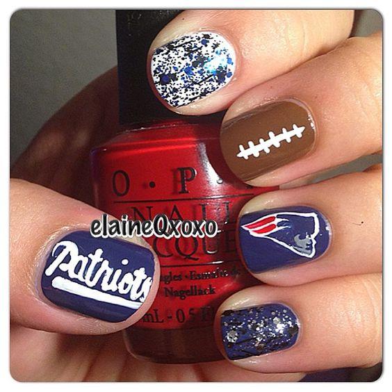 12 Super Bowl Nail Art Designs