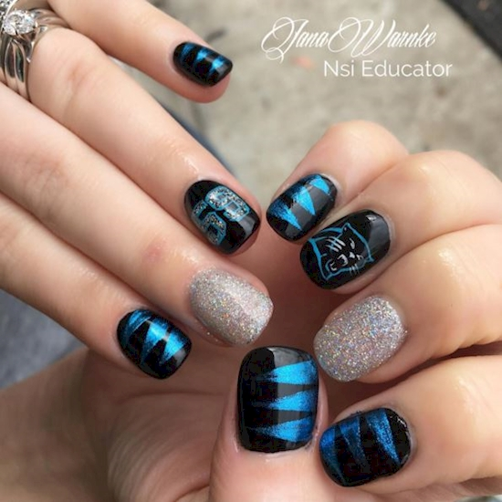 Super Bowl Nail Art Design