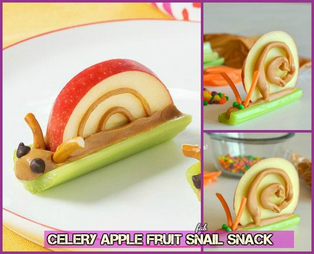 15 Fun Fruit Serving Ideas for Kids Party-Fruit Snail Snack