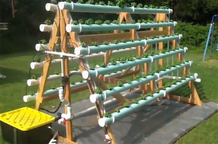DIY AFrame Vertical Hydroponic Garden System – Vertical Hydroponic Garden Plans
