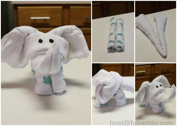DIY Swaddle Blanket Elephant Tutorials
