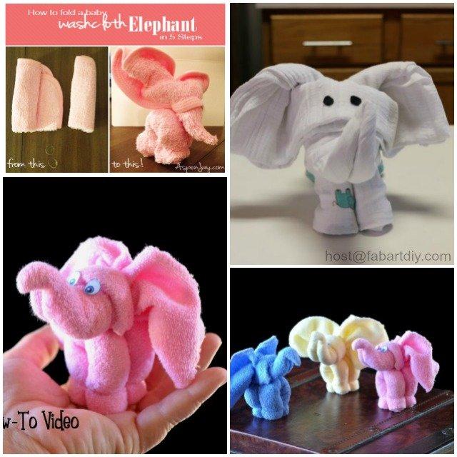 DIY Towel Elephant Tutorials