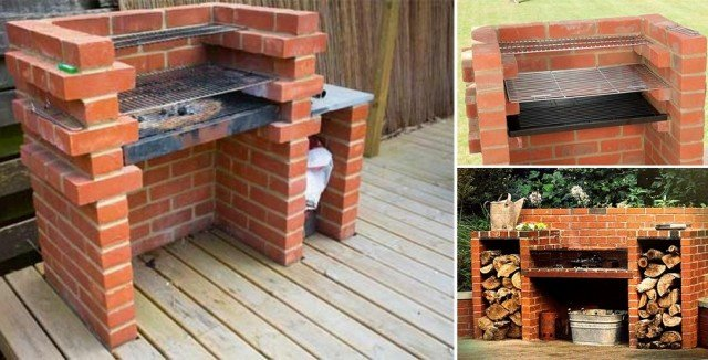 How To Build Brick Bbq Grill Diy Tutorial Video