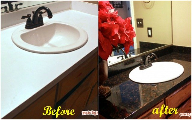 How To Faux Paint Laminate Countertop Into Granite