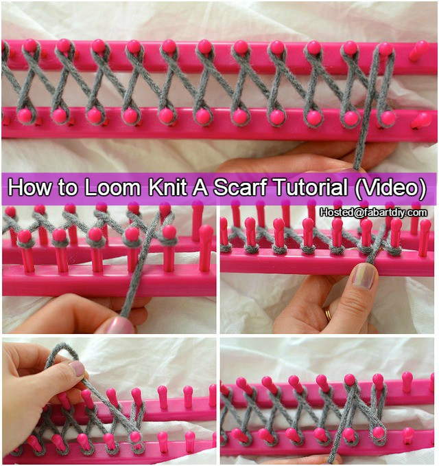 How to Loom Knit Scarf DIY Tutorial Video