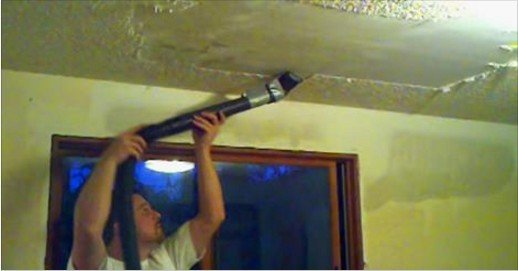 Trick to Get Rid Of Your Popcorn Ceiling with Vacuum