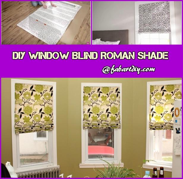 DIY Window Blind Roman Shade Tutorial (Video)