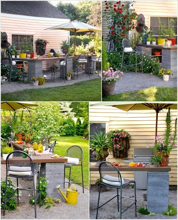 10 Amazing Cinder Block DIY Ideas and Projects-concrete cinder block outdoor kitchen