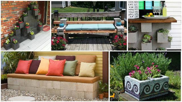 10+ Amazing Cinder Block DIY Ideas and Projects
