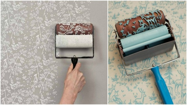 10 Low Budget DIY Home Decoration Projects-Patterned paint rollers-Patterned paint rollers are perfect for designing original fabrics and personalizing wall decorating