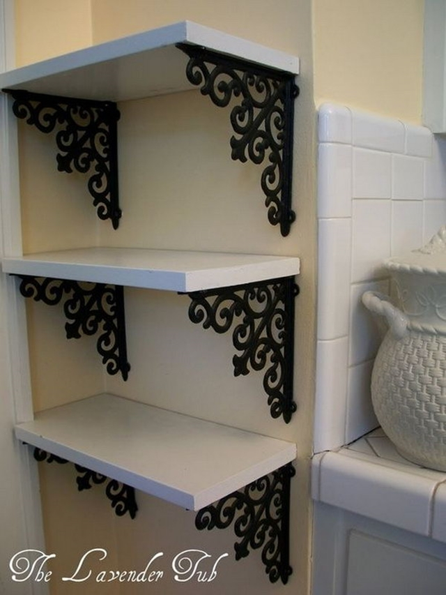 10 Low Budget DIY Home Decoration Projects-Elegant Shelves for Display