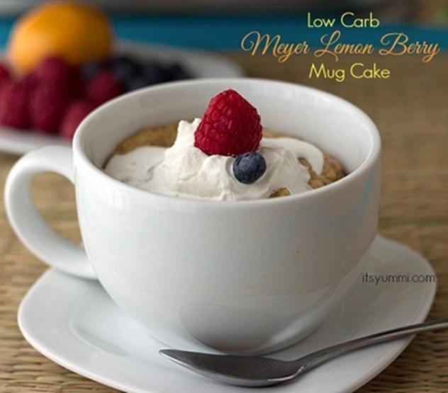 20 DIY Mug Cakes Recipes to Start Your Day-Low Carb Meyer Lemon Mug Cake