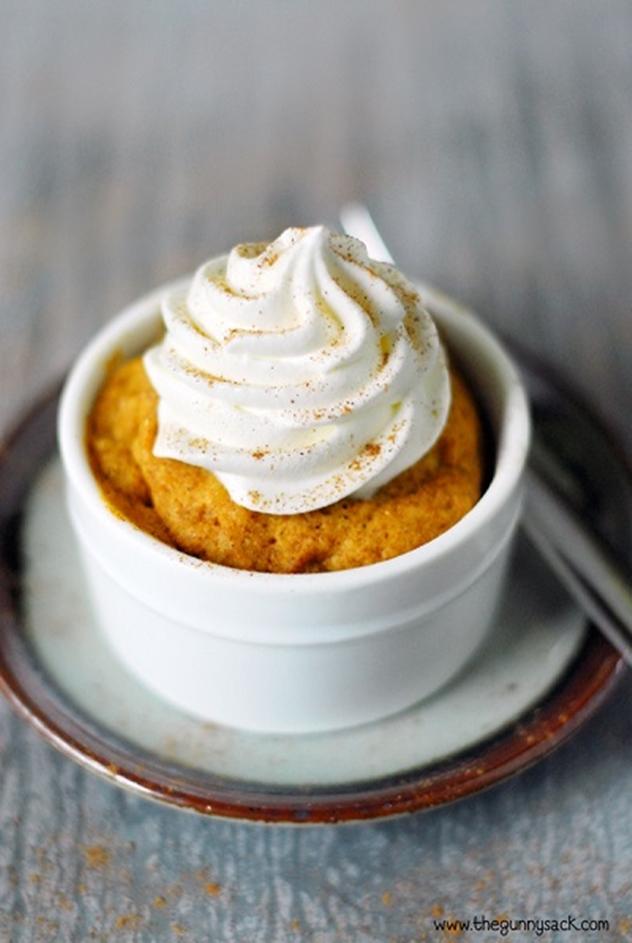 20 DIY Mug Cakes Recipes to Start Your Day-Easy Pumpkin Mug Cake