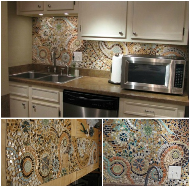 5 DIY Kitchen Backsplashes   DIY Mosaic Kitchen Backsplashes