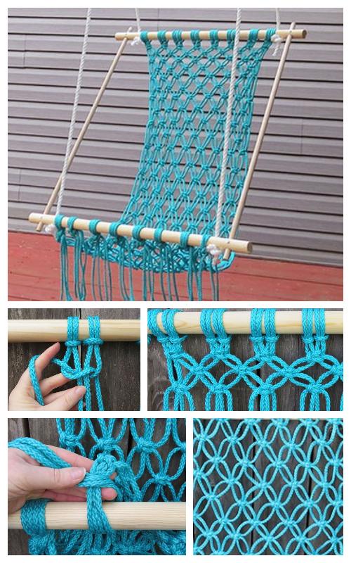 DIY Outdoor Macrame Hammock Chair Tutorial