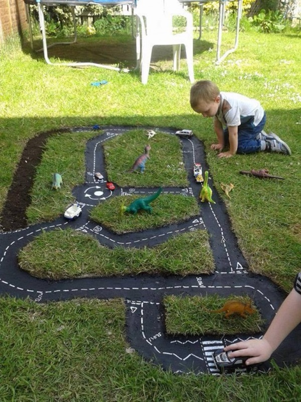 DIY Outdoor Race Car Track Tutorial-video