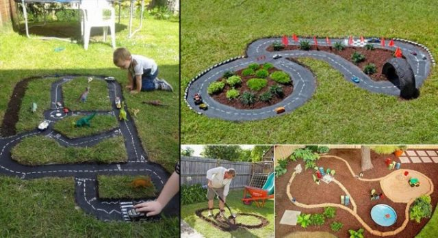 diy outdoor race car track