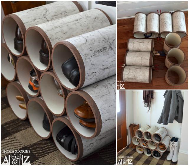 DIY PVC Pipe Shoe Rack Tutorial Video