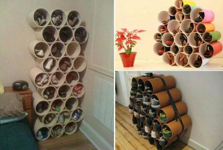 diy pvc pipe shoe rack tutorial video. Black Bedroom Furniture Sets. Home Design Ideas