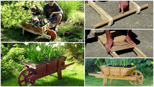 DIY Pallet Wheelbarrow Planter Tutorial Video