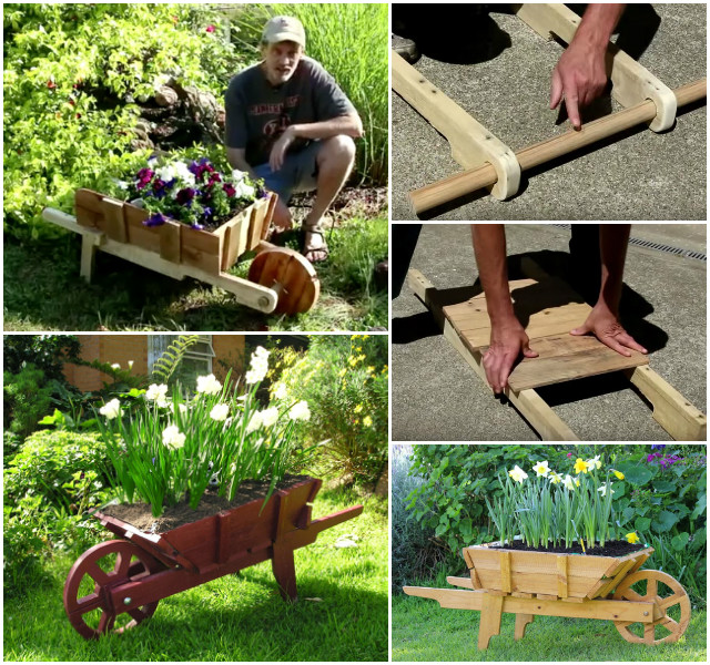 DIY Pallet Wheelbarrow Planter Tutorial Video