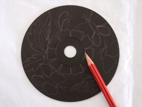 DIY Recycled CD Wall Art
