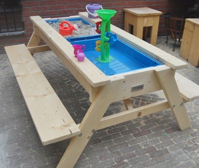 DIY Sandbox Picnic Table