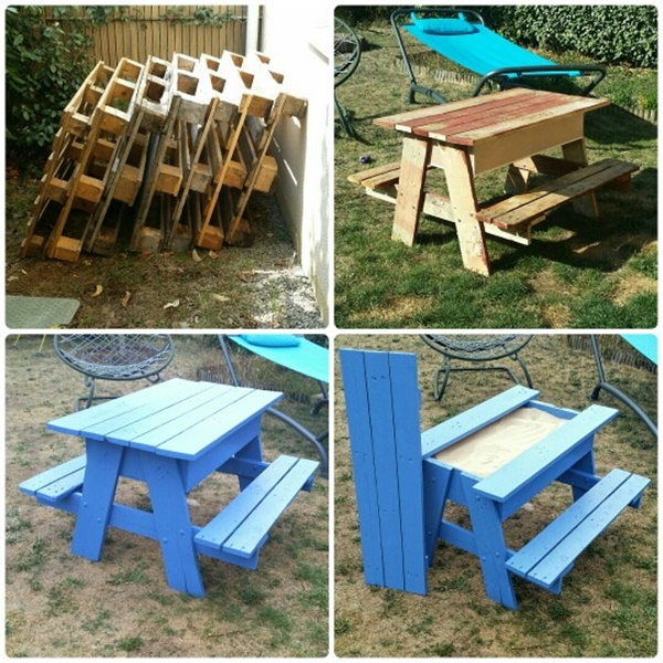DIY Sandbox Picnic Table DIY Pallet Sandbox Picnic Table