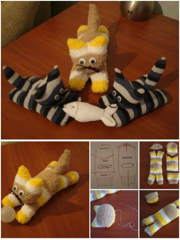 DIY Sock Kitten Tutorials