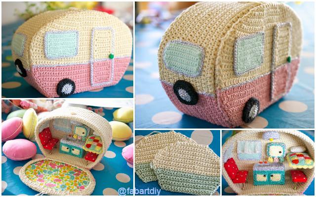 DIY Vintage Crochet Caravan Free Pattern