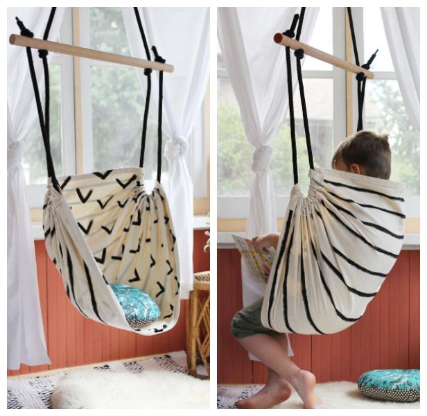 Easy DIY Fabric Hammock Chair Tutorials