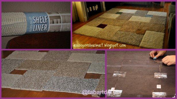 diy area rug tutorial