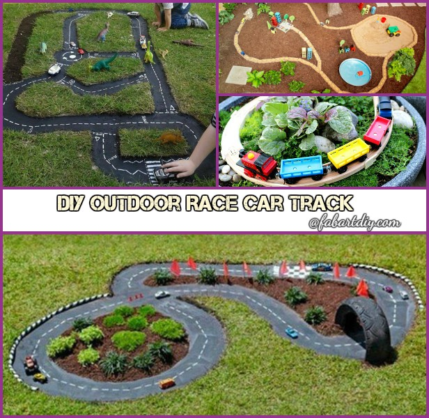 DIY Outdoor Race Car Track for Kids Tutorials